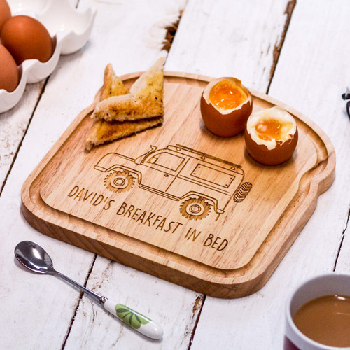 Personalised Breakfast Egg Board - Landrover
