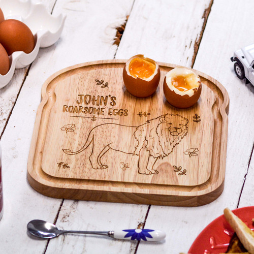 Personalised Breakfast Egg Board - Lion