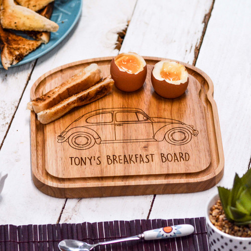 Personalised Breakfast Egg Board - Beetle