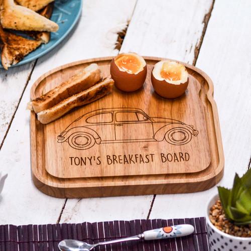 Personalised Breakfast Egg Board - Beetle
