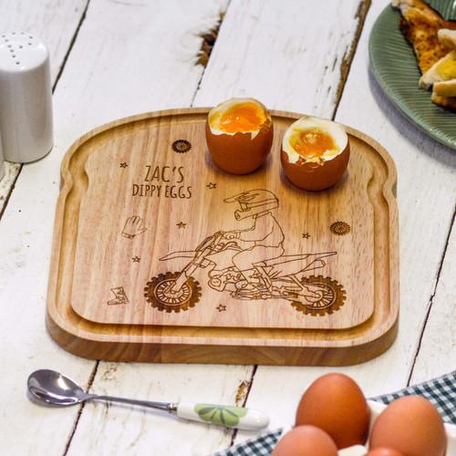 Personalised Breakfast Egg Board - Motorcross