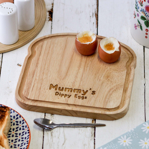 Personalised Breakfast Egg Board - Bubble Font