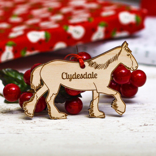 Personalised Clydesdale Horse Decoration