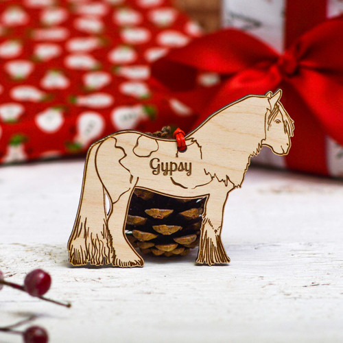 Personalised Gypsy Horse Decoration