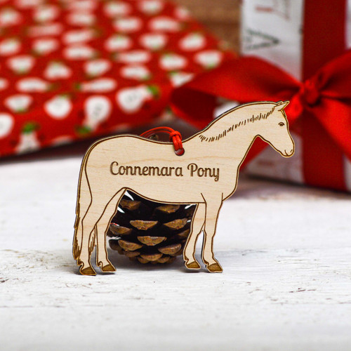 Personalised Connemara Horse Decoration