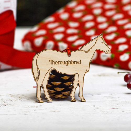 Personalised Thoroughbred Horse Decoration
