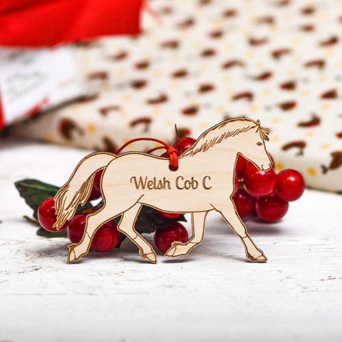 Personalised Welsh Cob Section C Horse Decoration
