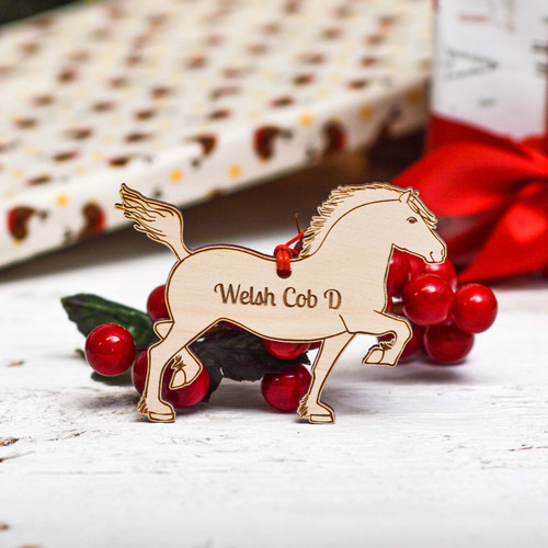 Personalised Welsh Cob Section D Horse Decoration