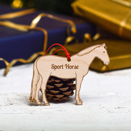 Personalised Sport Horse Decoration