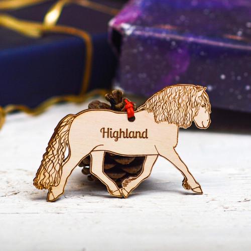 Personalised Highland Pony Horse Decoration