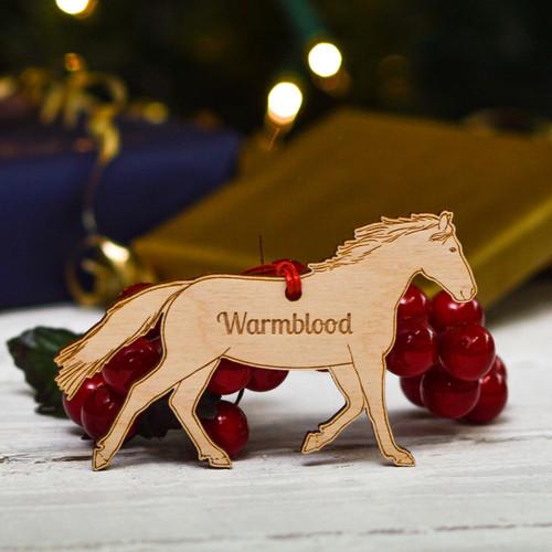 Personalised Warmblood Horse Decoration