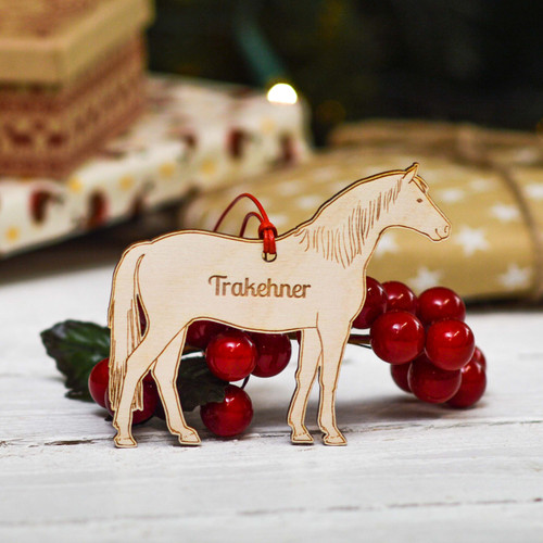 Personalised Trakehner Horse Decoration
