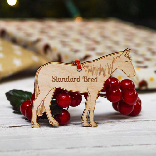 Personalised Standard Bred Horse Decoration