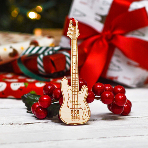 Personalised Bass Guitar Decoration