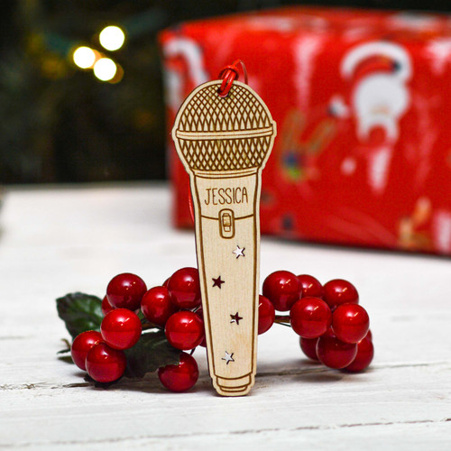 Personalised Microphone Decoration