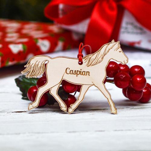 Personalised Caspian Horse Decoration