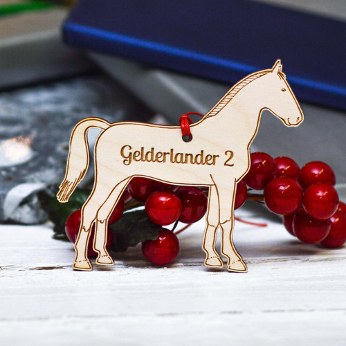 Personalised Gelderlander 2 Horse Decoration