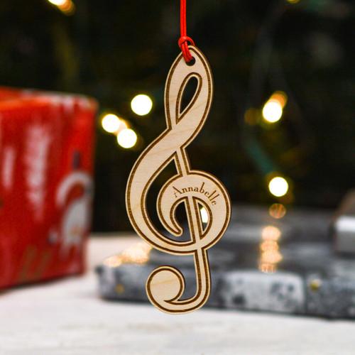 Personalised Treble Clef Music Decoration