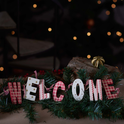 Wooden Garland Decoration 'Welcome'