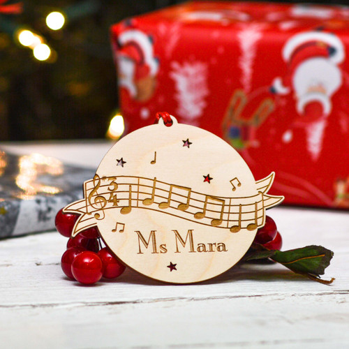 Personalised Musical Notes Decoration
