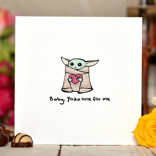 Baby, Yoda one for me Card