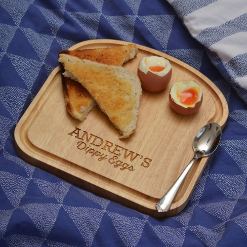 Personalised Breakfast Egg Board - Dippy Eggs Valentine's Day