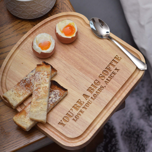 Personalised Breakfast Egg Board - Eggs and Soldiers Valentine's Day