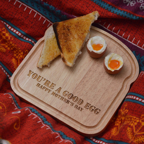 Personalised Breakfast Egg Board - Eggs and Soldiers Mother's Day