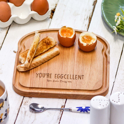 Personalised Breakfast Egg Board - Eggcellent Mother's Day
