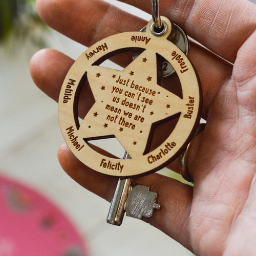 Personalised Little Stars Lockdown Keyring