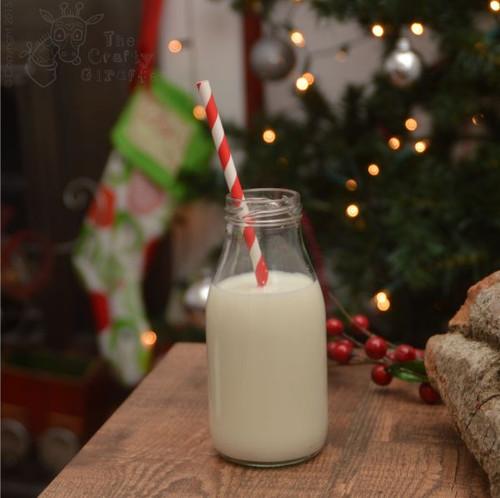 Retro Mini Milk Bottle and Straw - The Crafty Giraffe