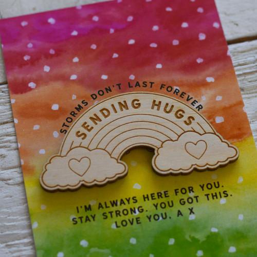Personalised Sending hugs Magnet Token Giftcard