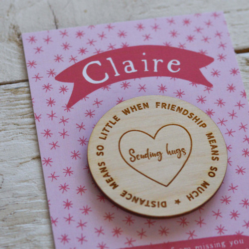 Personalised Distance means so little Magnet Token Giftcard
