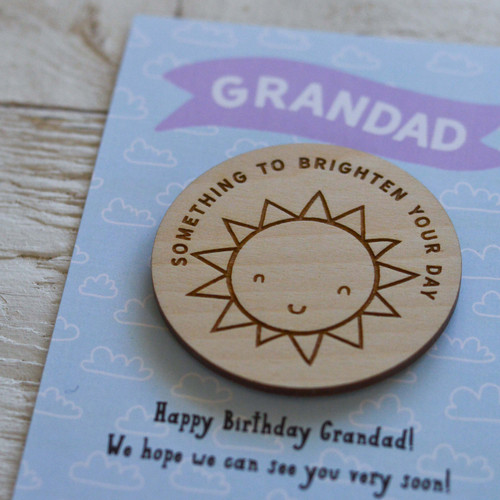 Personalised Something to brighten your day Magnet Token Giftcard