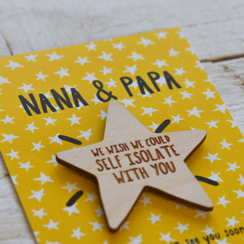 Personalised We wish we could self isolate with you Magnet Token Giftcard