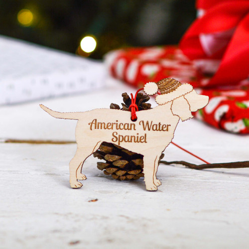 Personalised American Water Spaniel Dog Decoration