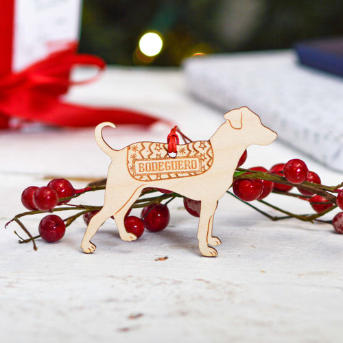 Personalised Bodeguero Dog Decoration