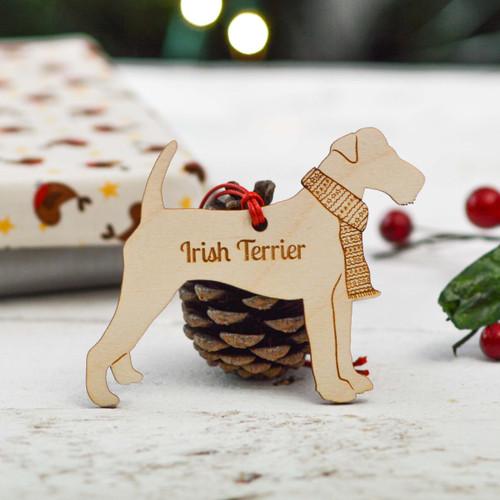 Personalised Irish Terrier Dog Decoration