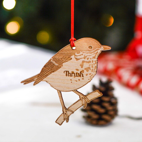 Personalised Thrush Decoration