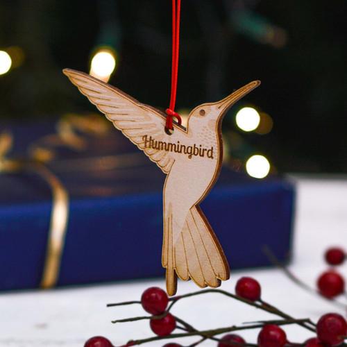 Personalised Hummingbird Decoration