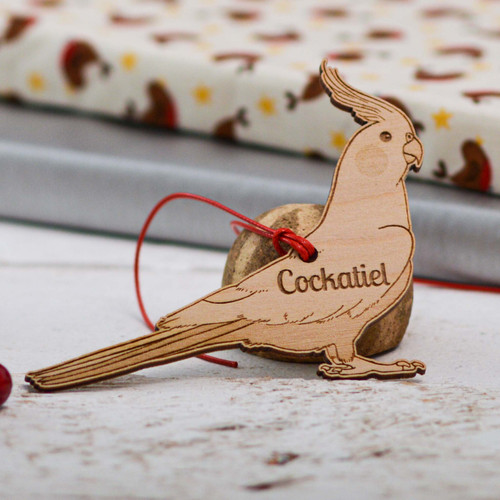 Personalised Cockatiel Decoration