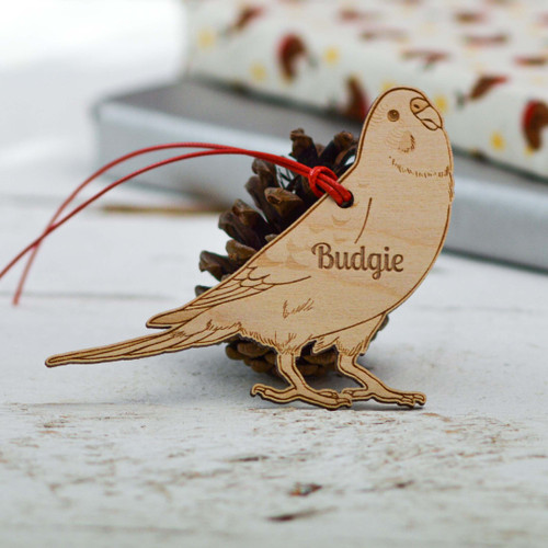 Personalised Budgie Decoration