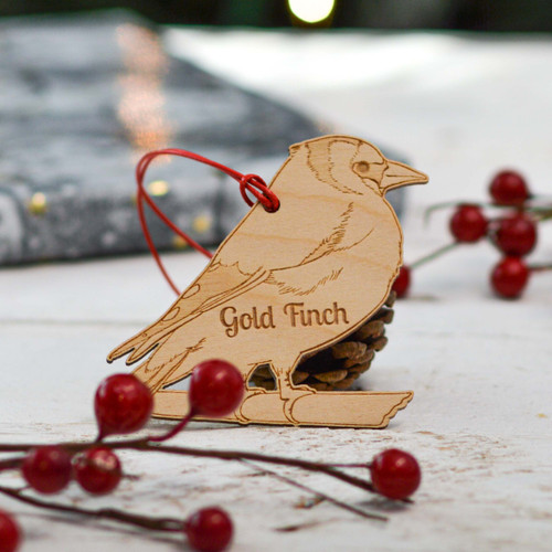 Personalised Gold Finch Decoration