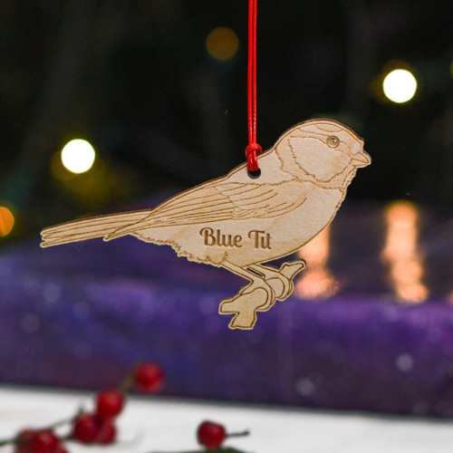 Personalised Blue Tit Decoration