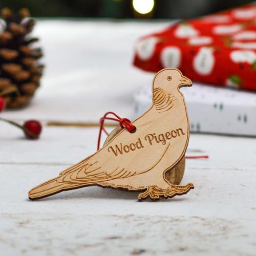 Personalised Wood Pigeon Decoration