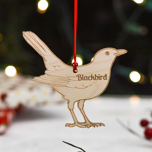 Personalised Blackbird Decoration