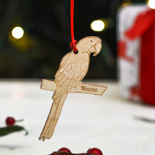 Personalised Macaw Decoration