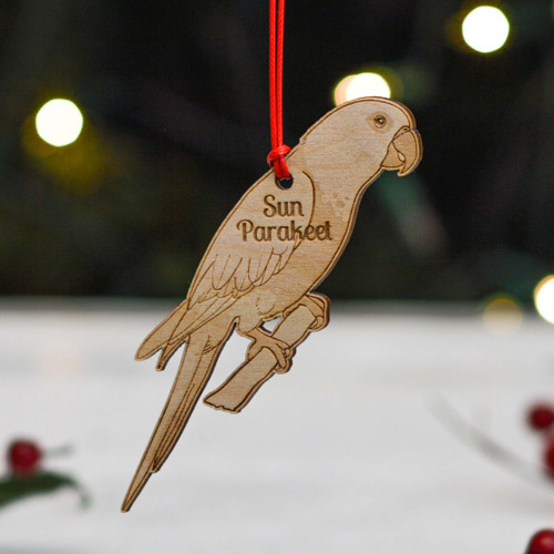 Personalised Sun Parakeet Decoration