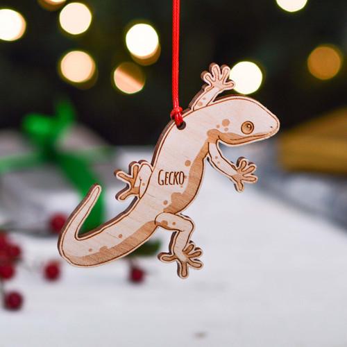 Personalised Gecko Decoration