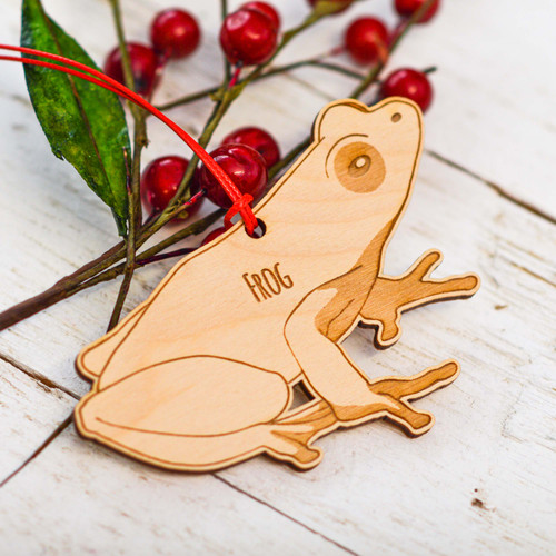 Personalised Frog Decoration